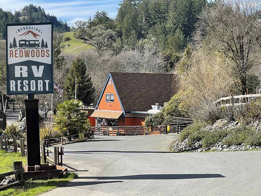 The small western town at WILLITS KOA