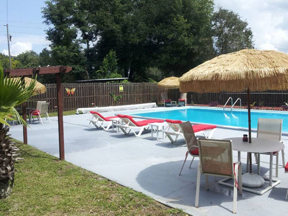 Swimming pool at campgrounds at BIG OAKS RV  MOBILE HOME COMMUNITY