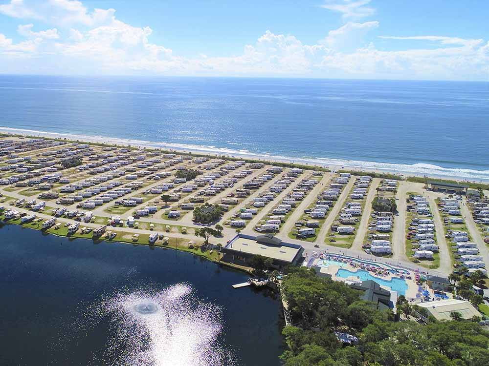 Trailers and RVs camping at MYRTLE BEACH TRAVEL PARK