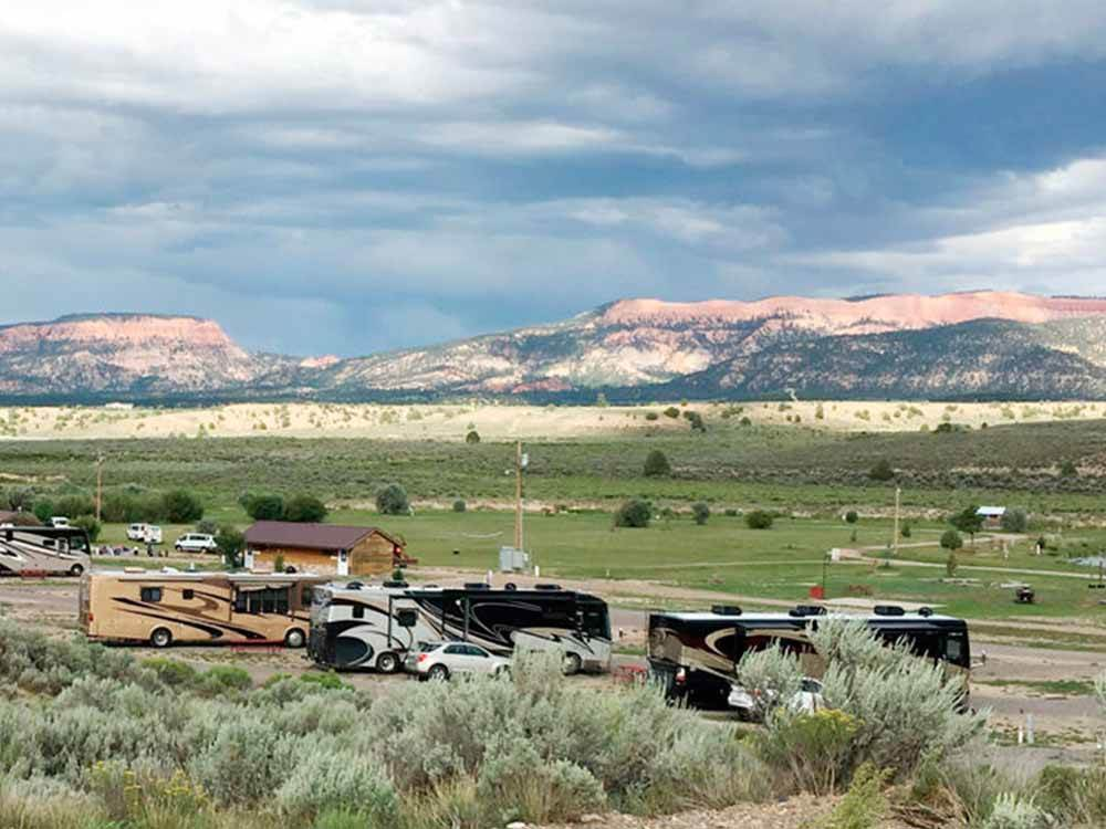 Trailers and RVs camping at THE RIVERSIDE RANCH RV PARK MOTEL  CAMPGROUND