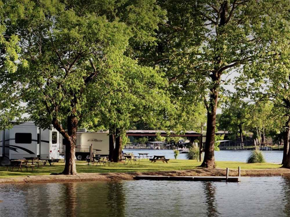 Waterfront sites at TREASURE ISLE RV PARK