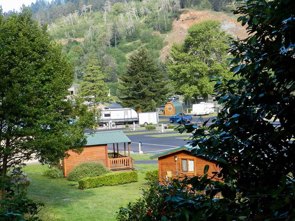 Atrivers edge rv resort brookings campgrounds good sam for Chetco river resort cabins brookings oregon