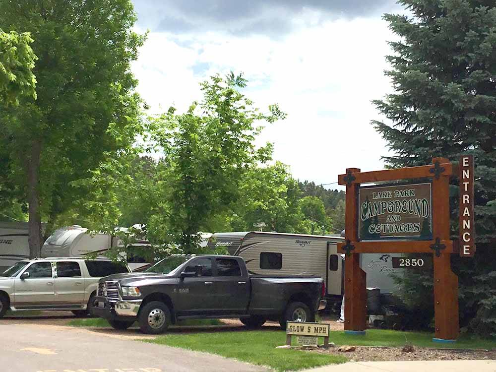 LAKE PARK CAMPGROUND  COTTAGES at RAPID CITY SD