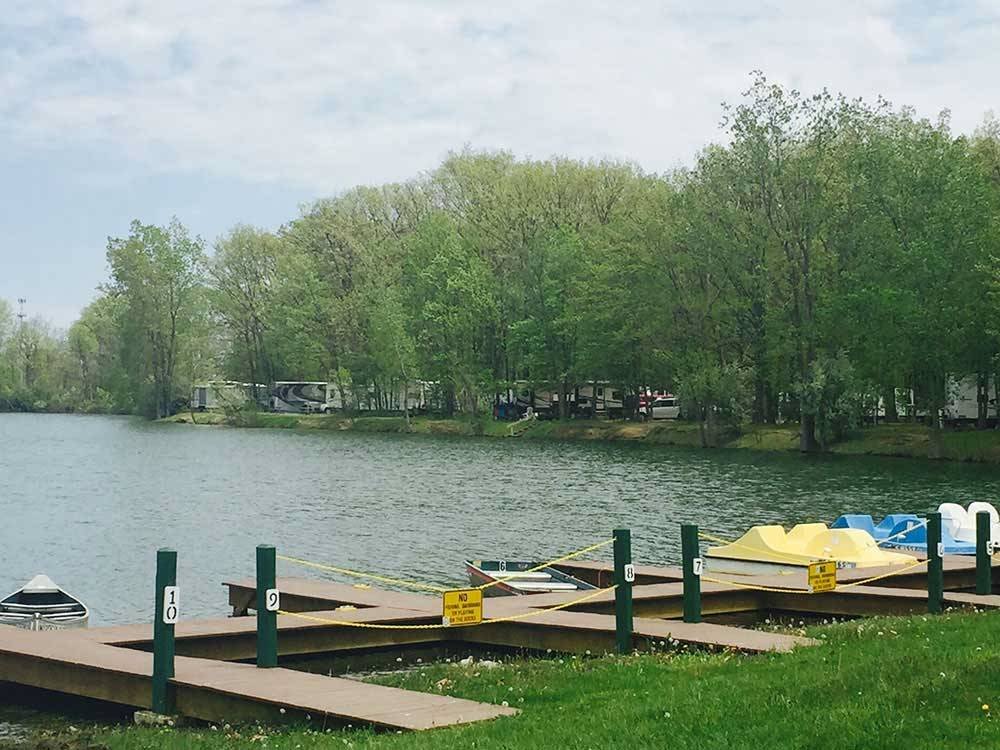 Boats docked at DETROITGREENFIELD RV PARK
