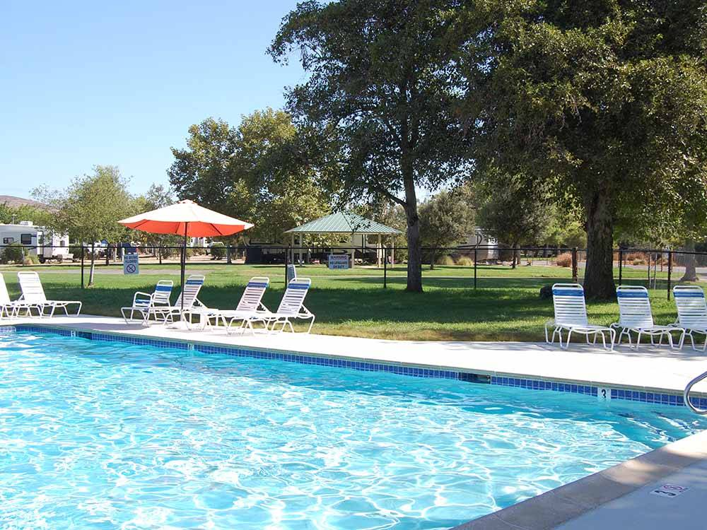 Trailer camping on the water at SANTEE LAKES RECREATION PRESERVE
