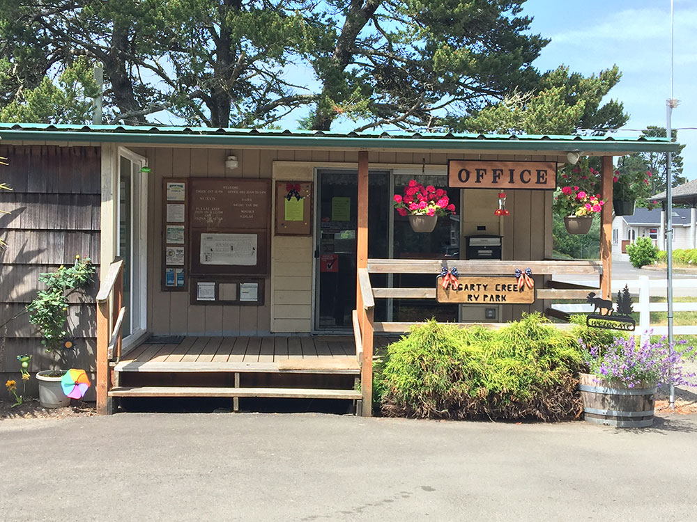 Lodge office at FOGARTY CREEK RV PARK