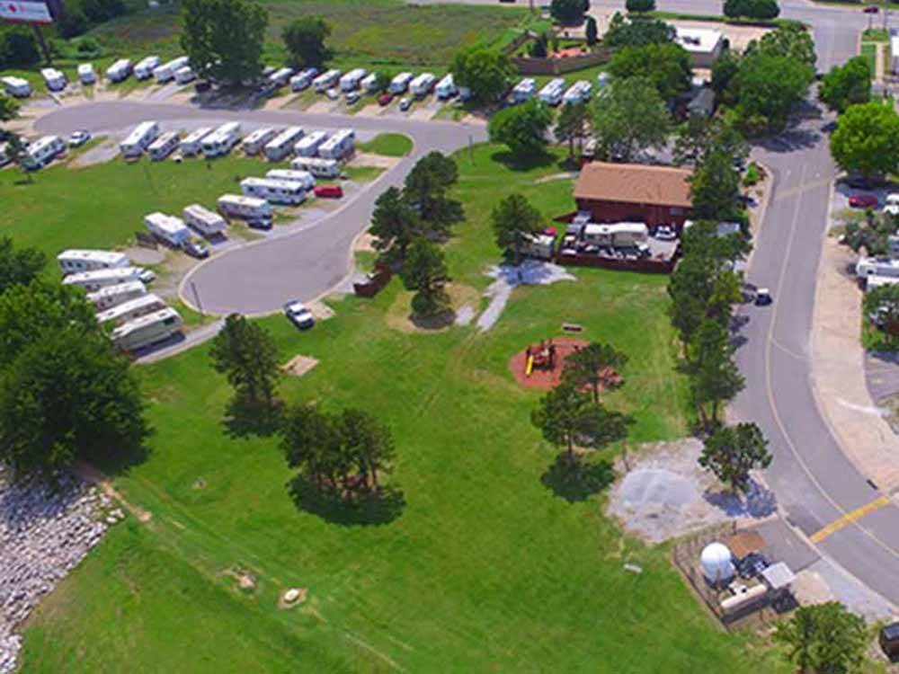 Magnificent aerial view at MINGO RV PARK