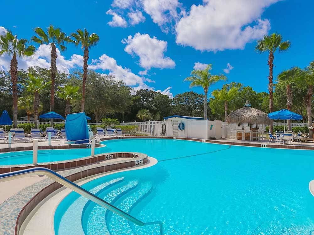 Swimming pool at campgrounds at BAY BAYOU RV RESORT