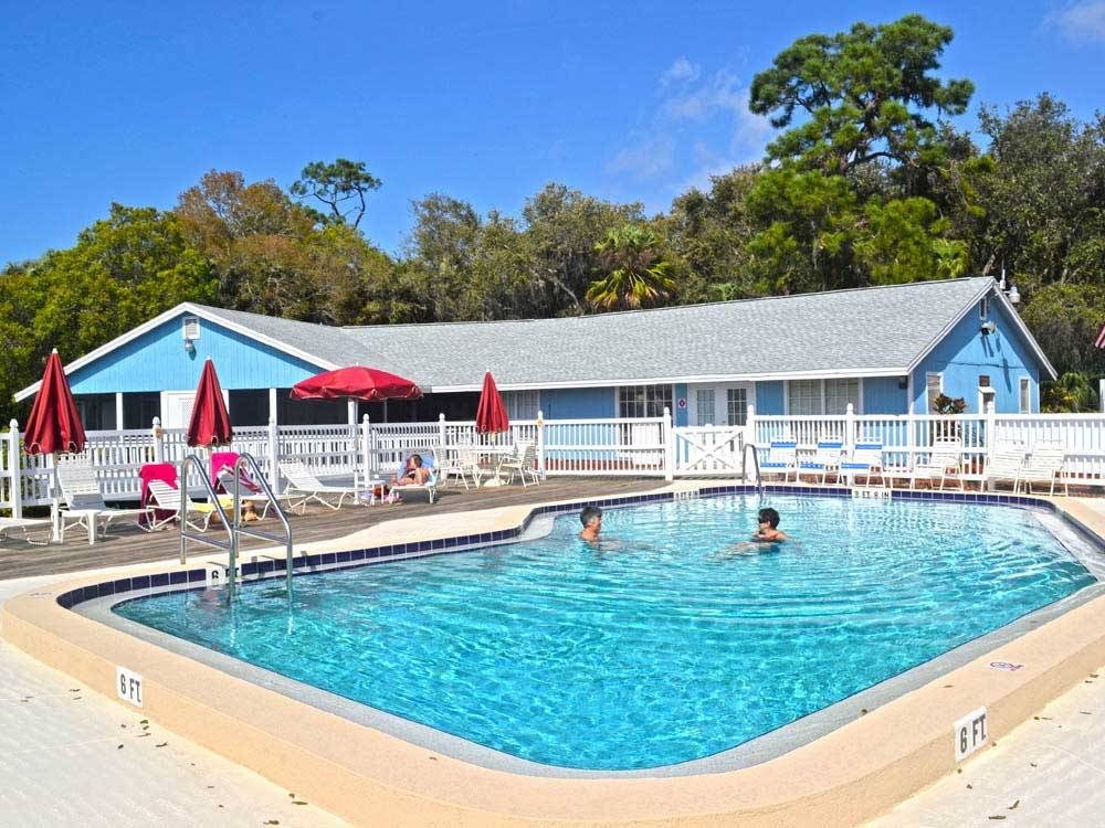 Swimming pool at campground at TERRA CEIA RV RESORT