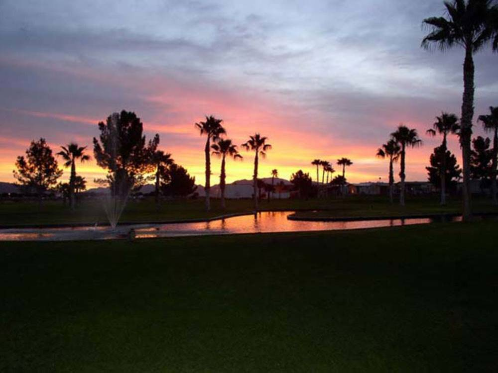 Sunset view at WESTWIND RV  GOLF RESORT