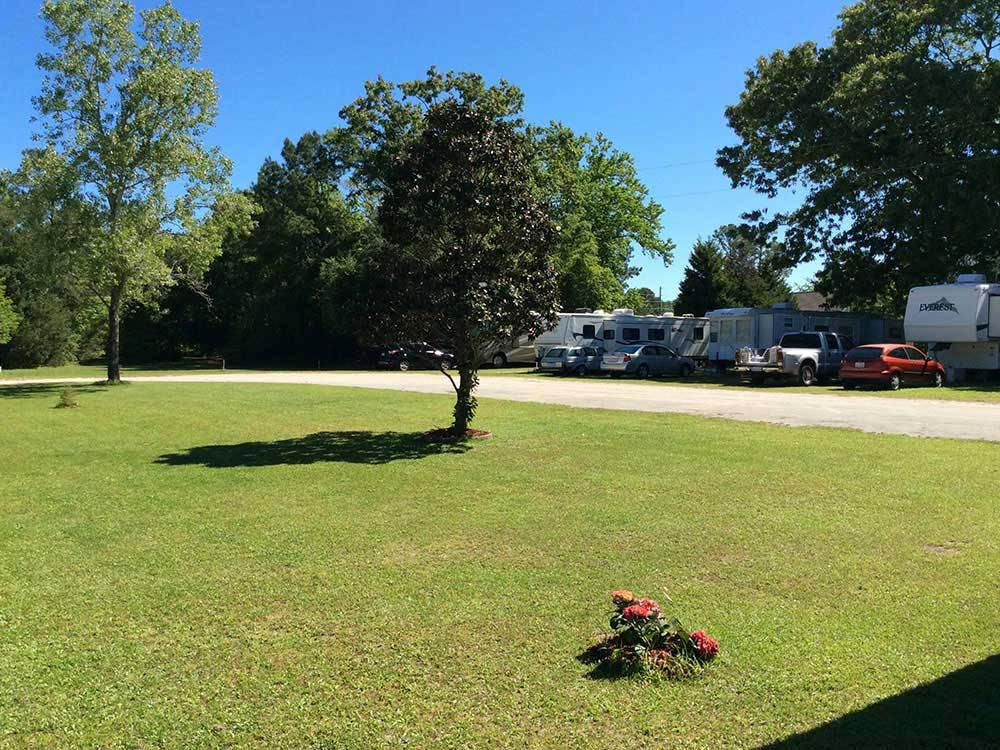 Trailers camping at S  W CAMPGROUND
