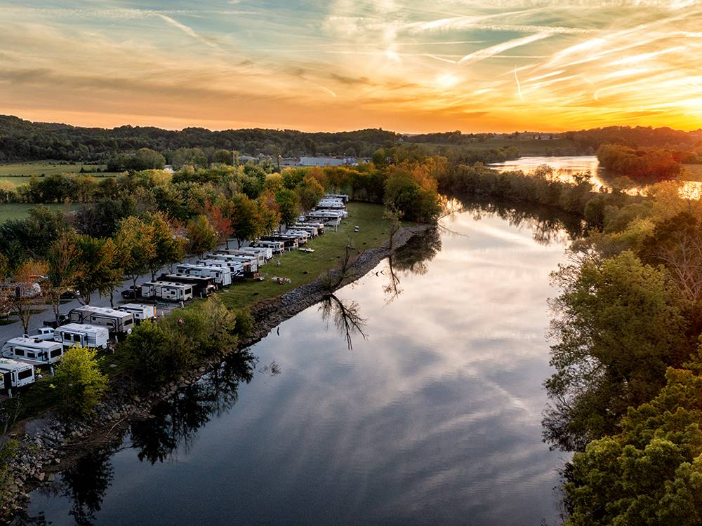 Magnificent aerial view at RIVERSIDE RV PARK  RESORT