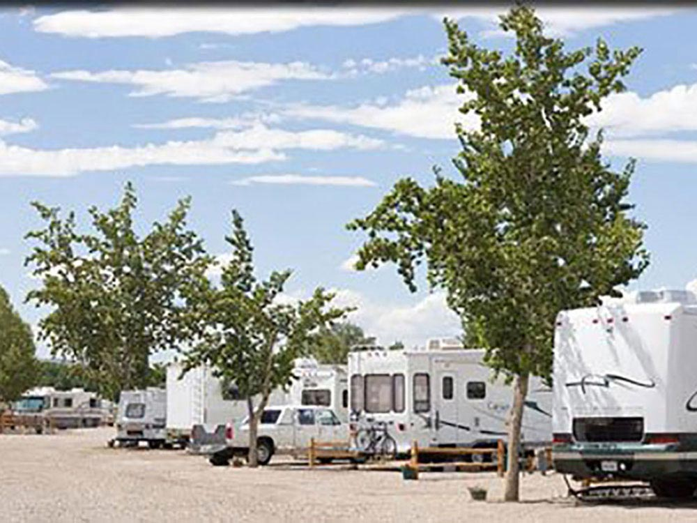 Trailers camping at JUNCTION WEST RV PARK