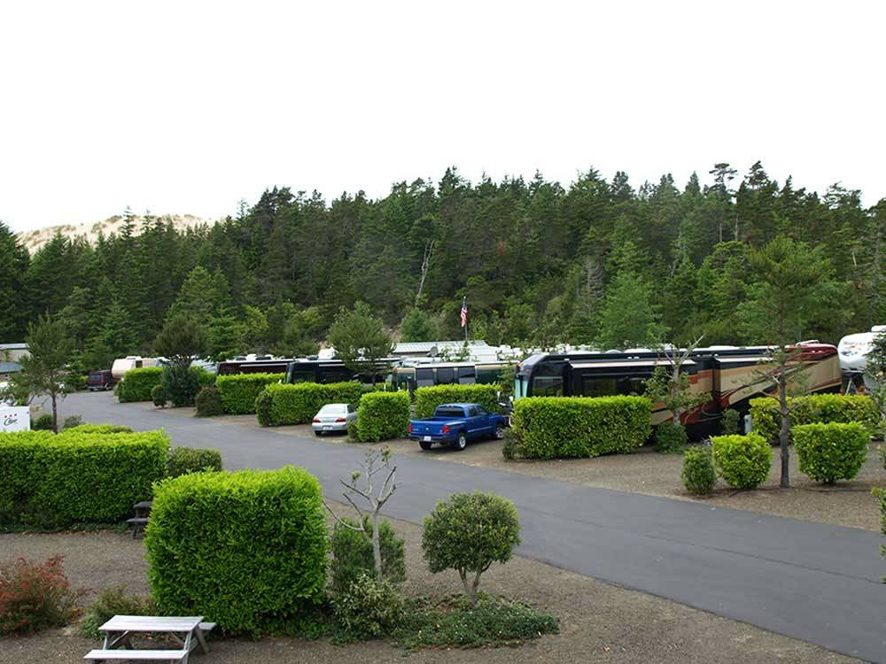 RVs and trailers at campgrounds at WOAHINK LAKE RV RESORT