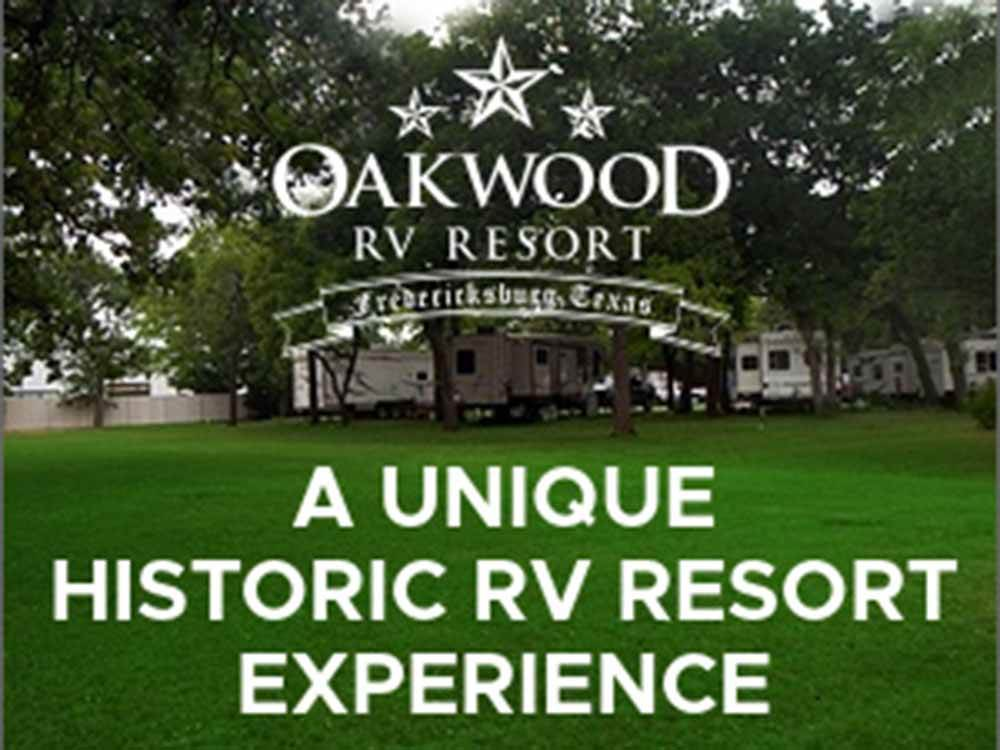 OAKWOOD RV RESORT at FREDERICKSBURG TX