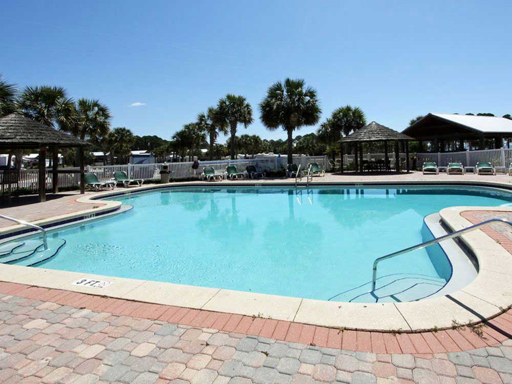 Swimming pool at campgrounds at CARRABELLE BEACH RV RESORT