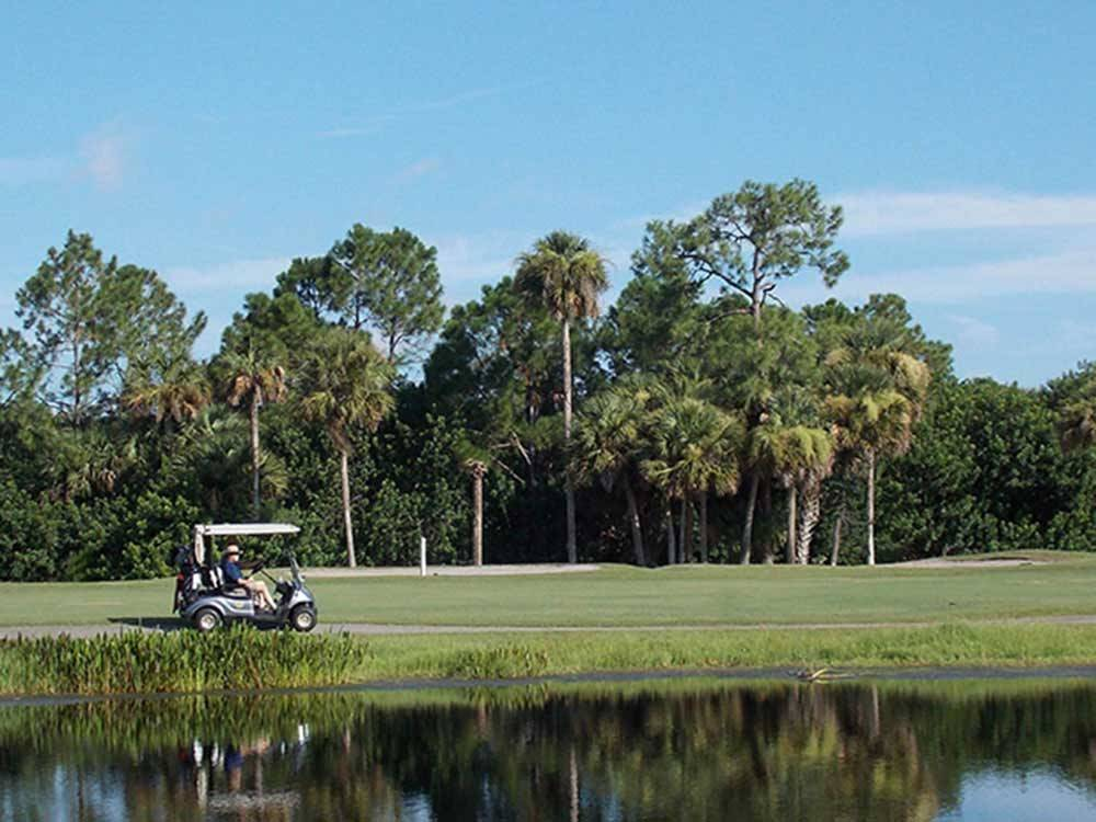 Men golfing at THE GREAT OUTDOORS RV NATURE  GOLF RESORT