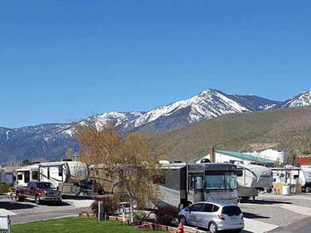 Snowcapped mountains at SILVER CITY RV RESORT