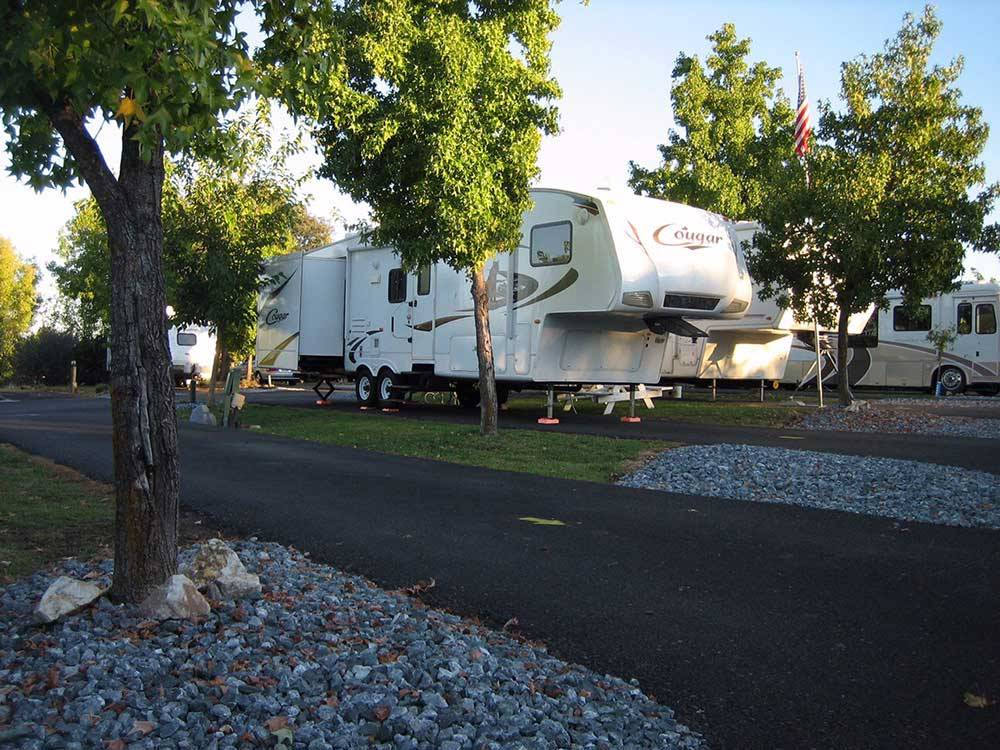 Trailers and RV camping at REDDING RV PARK