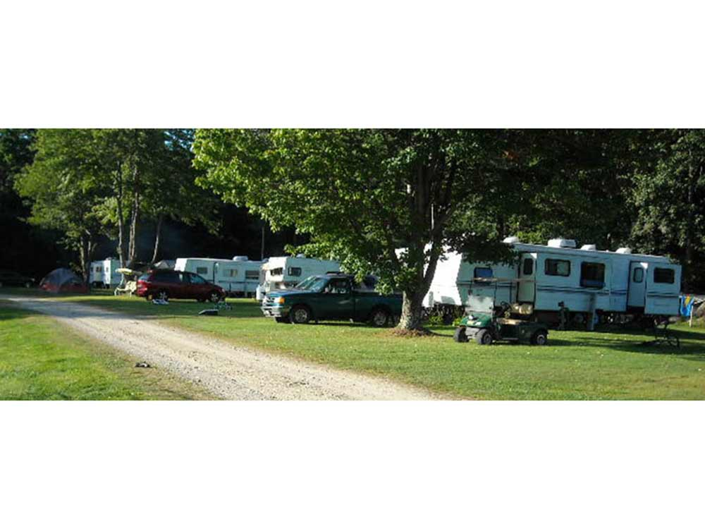 Trailers camping at WALNUT GROVE CAMPGROUND