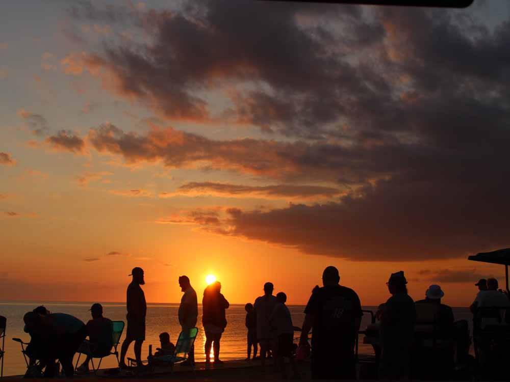 Magnificent aerial view at CAMP HATTERAS RV RESORT  CAMPGROUND