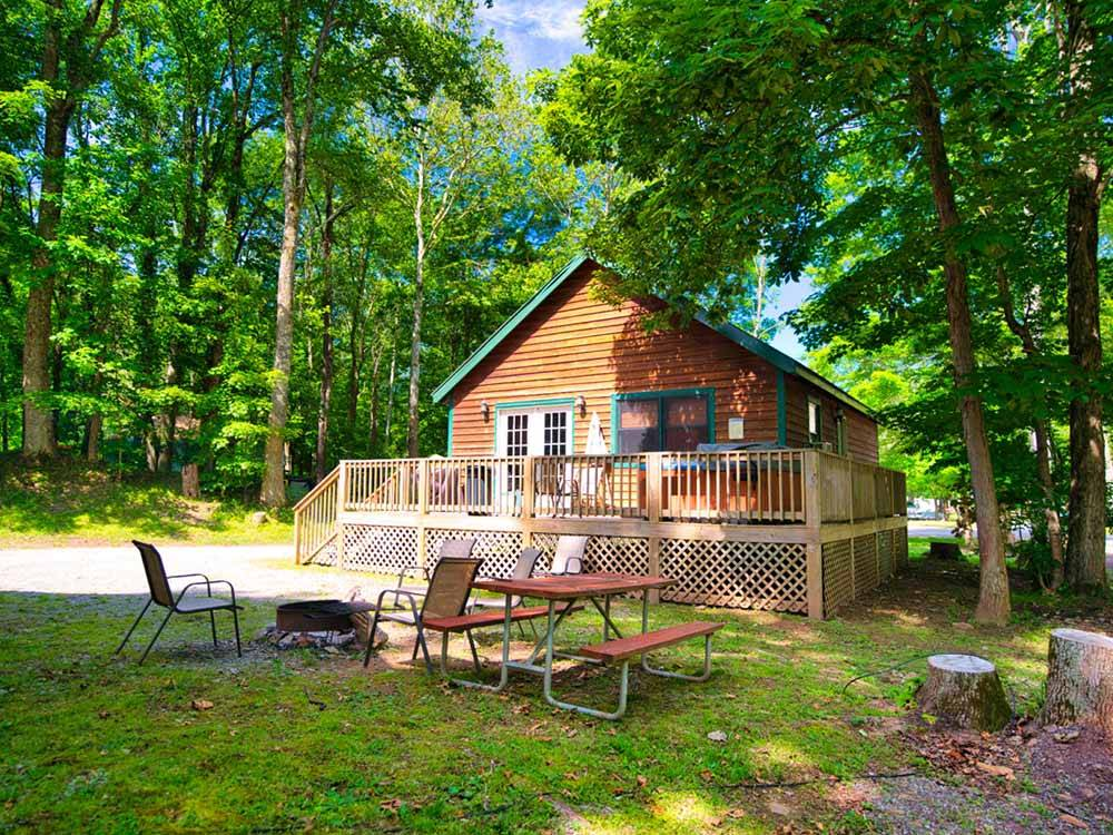 An aerial view of the campsites by the river at REVELLES RIVER RESORT