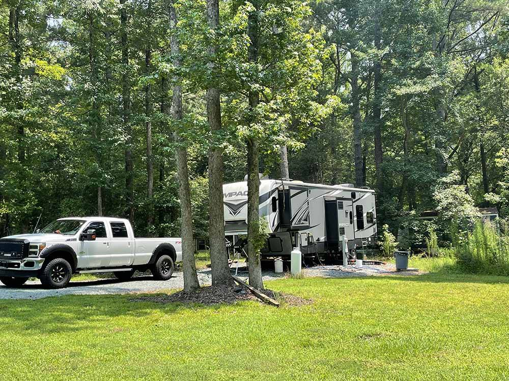 Trailer camping at SPRING HILL PARK