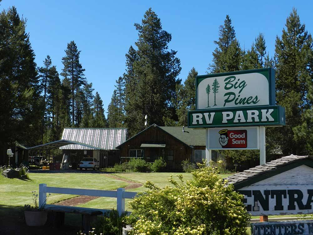 Good Sam sign leading into campgrounds at BIG PINES RV PARK