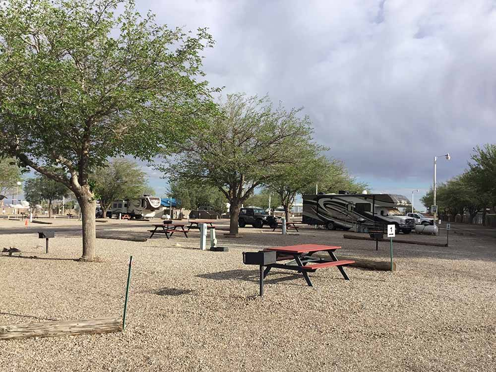 Sign at entrance to RV park at TOWN  COUNTRY RV PARK