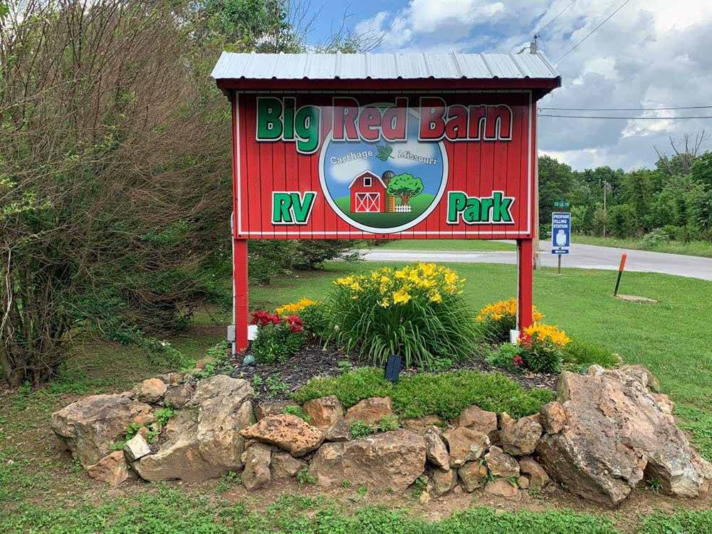 RVs camping at BIG RED BARN RV PARK