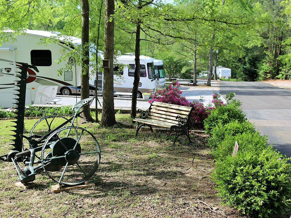 Trailers and RVs camping at CAMPGROUND AT BARNES CROSSING