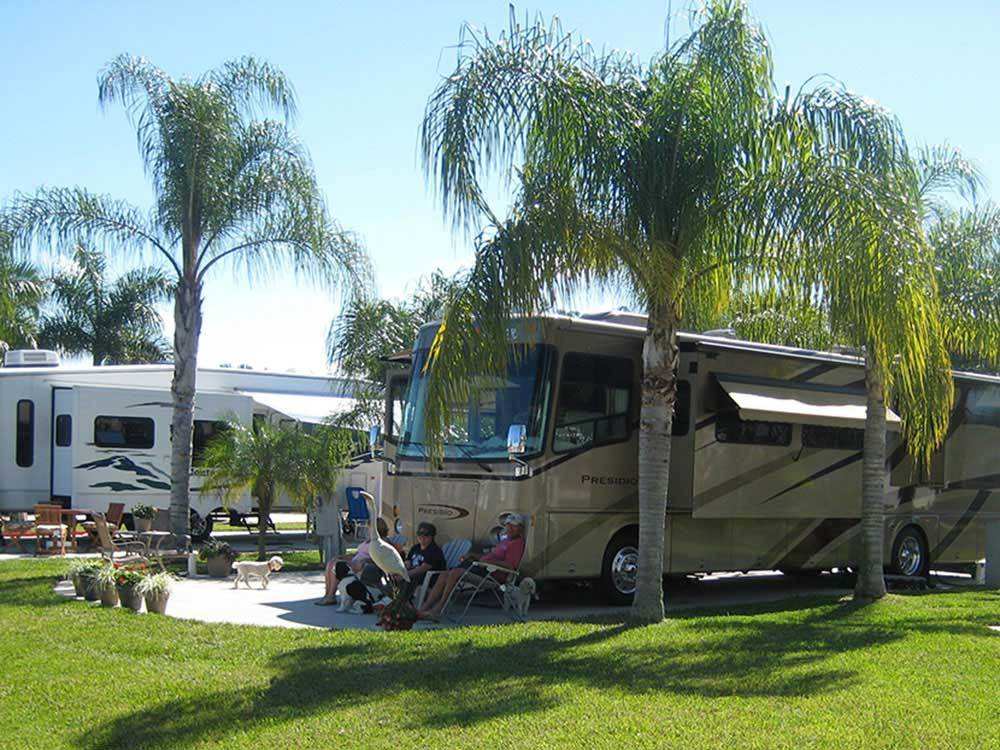 Trailers and RVs camping at SILVER LAKES RV RESORT  GOLF CLUB