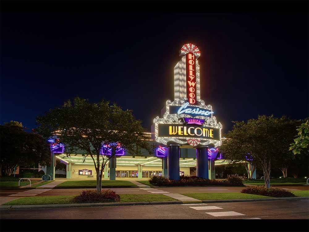 An aerial view of the main building at HOLLYWOOD CASINO HOTEL  RV PARK