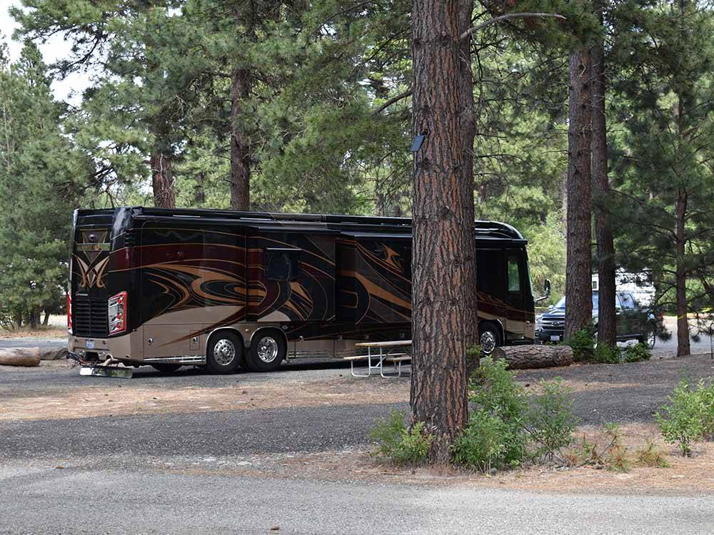 Amazing aerial view over resort at WHISPERING PINES RV PARK  RV PARTS STORE