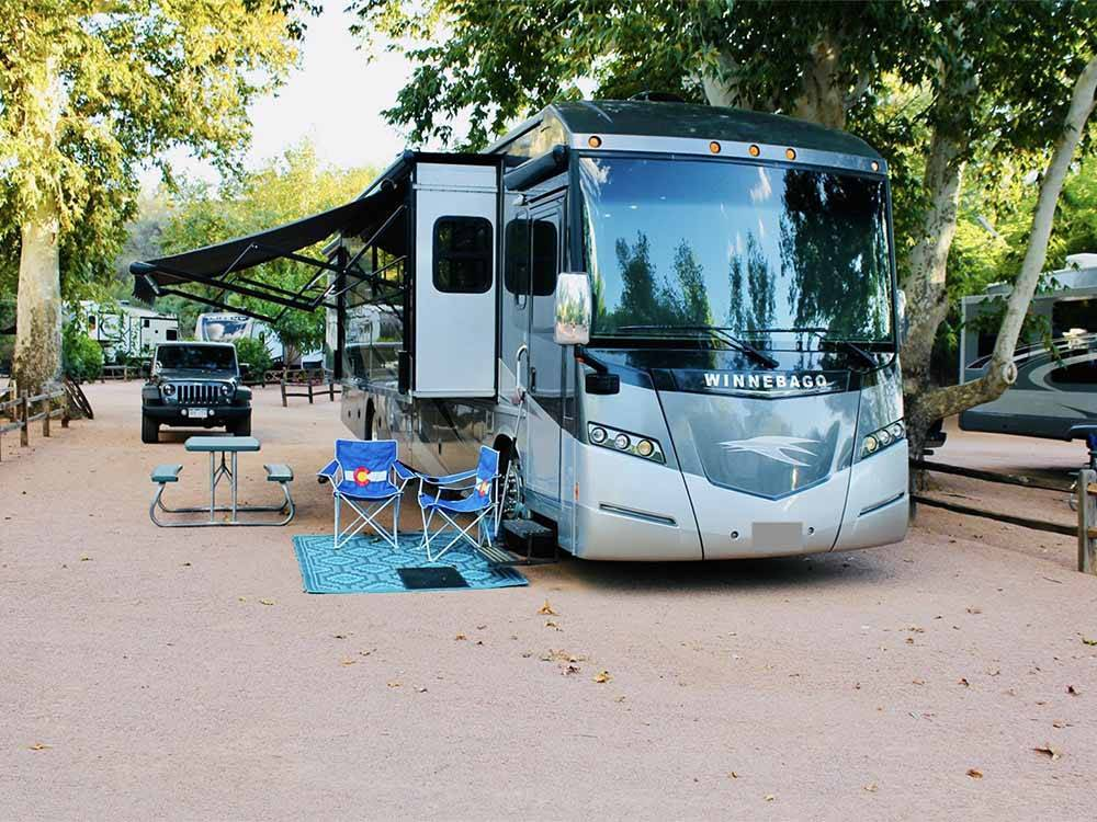 Trailers camping at ZANE GREY RV VILLAGE