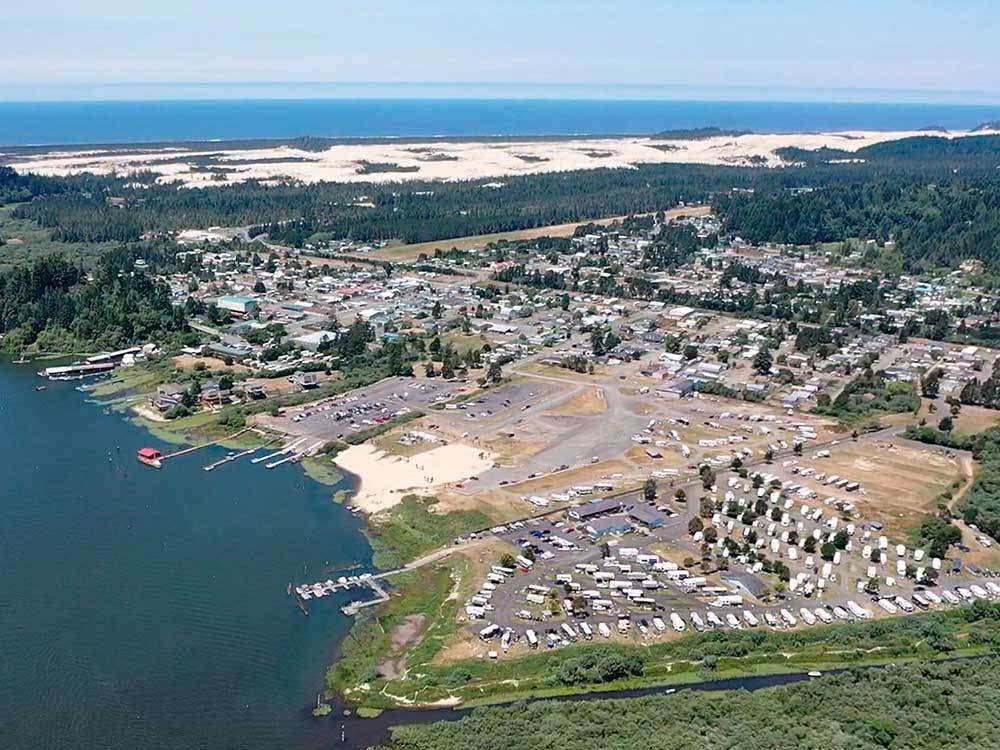 Aerial view of the resort at OSPREY POINT RV RESORT