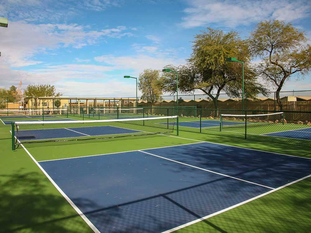 Tennis courts at COTTON LANE RV RESORT