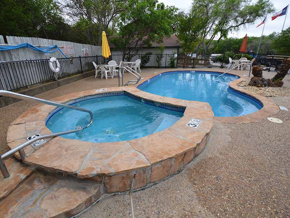 Magnificent aerial view of campground at STONE CREEK RV PARK