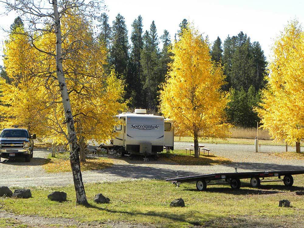 Trailer camping at BUFFALO RUN RV PARK  CABINS