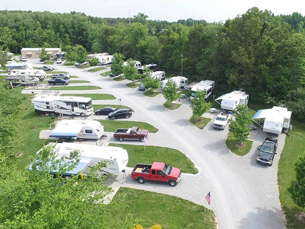 Amazing aerial view over resort at SPRING LAKE RV RESORT