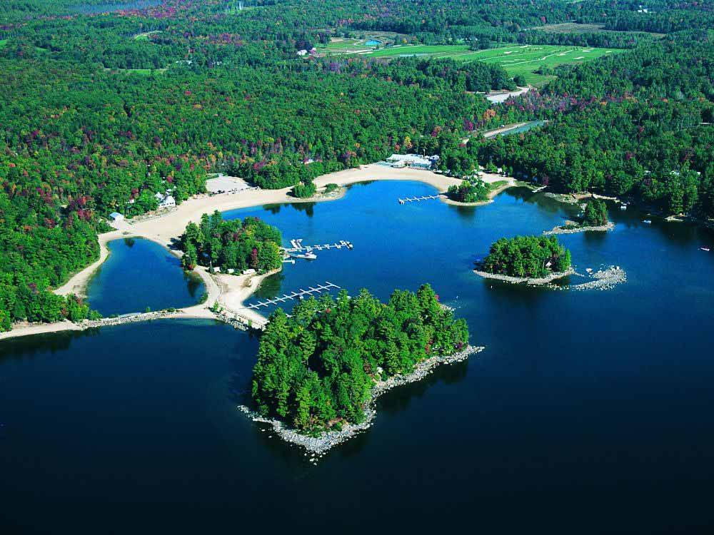 RV camping at POINT SEBAGO RESORT