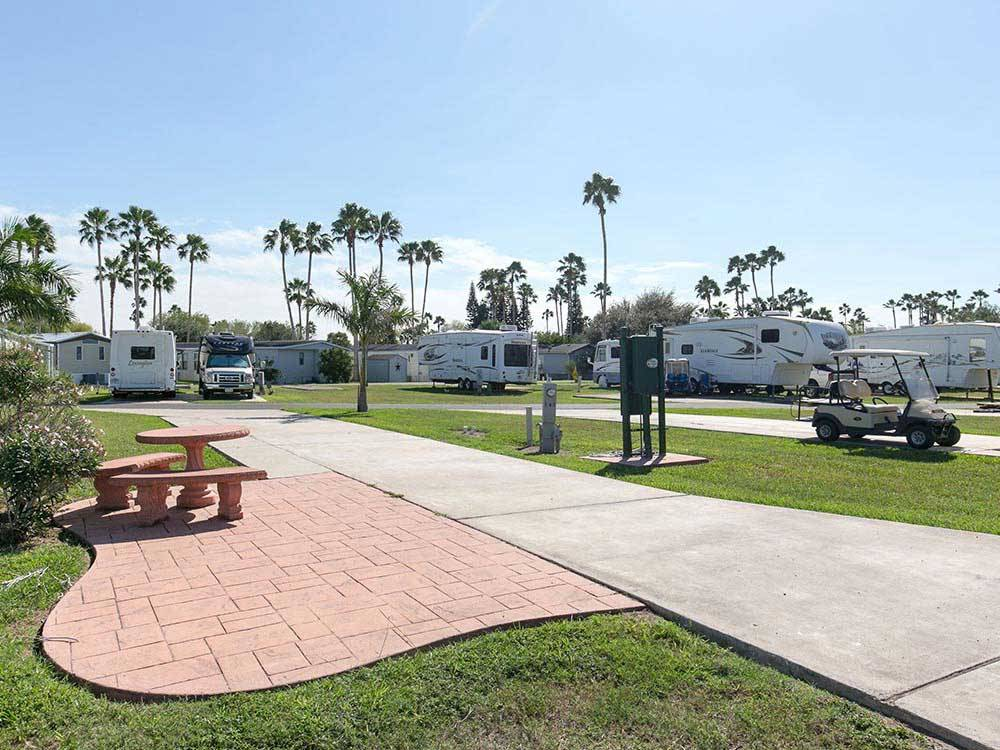 Trailers and RV camping at TROPIC WINDS RV RESORT