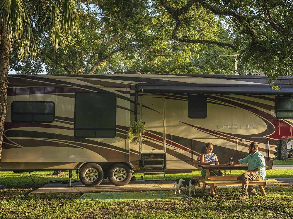 RVs camping at BIG CYPRESS RV RESORT  CAMPGROUND