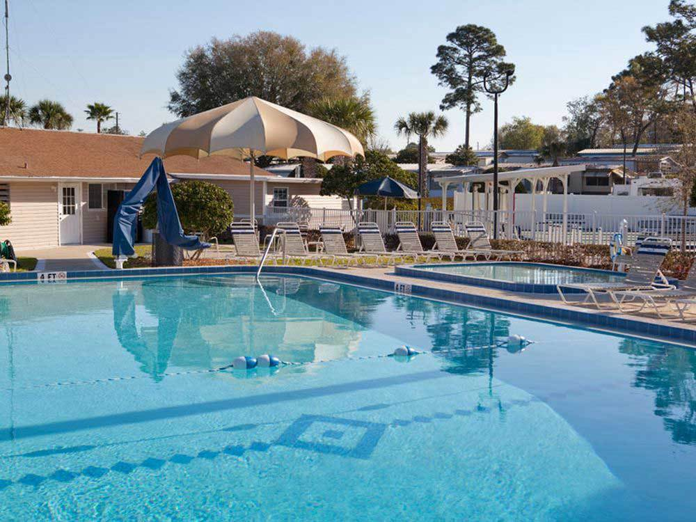 Swimming pool at campgrounds at ORANGE CITY RV RESORT