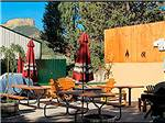 View larger image of Picnic tables and sitting area at MESA VERDE RV RESORT image #5