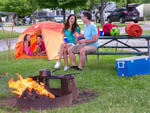 View larger image of Family enjoying campgrounds while camping at INDIANA BEACH CAMPGROUNDS image #5