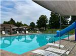 View larger image of The playground with multiple activities on it at TRIPLEBROOK CAMPING RESORT image #2