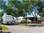 View larger image of Two white trailers and one large motorhome at GRAND JUNCTION KOA image #6