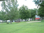 View larger image of Volleyball court with picnic table at PRAIRIE OASIS CAMPGROUND  CABINS image #5
