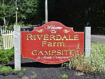 View larger image of Sign leading into campground at RIVERDALE FARM CAMPSITES image #1